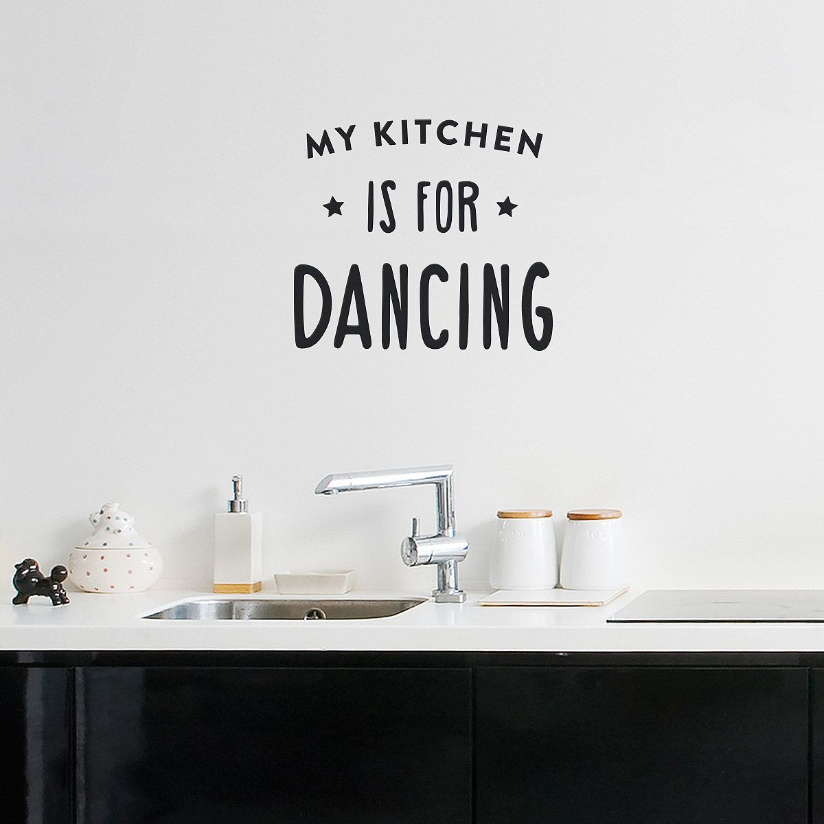 Wall decal quote My kitchen is for dancing / Wall by MadeofSundays ...