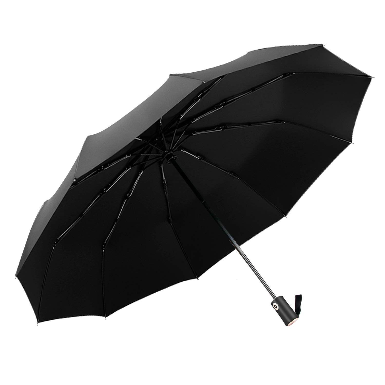 Compact//Folding Auto Open Auto Close Umbrella Windproof Rain Transparent Clear
