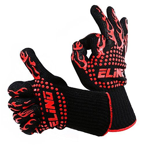 Elino Heat Resistant Cooking Gloves 100 Cotton Inner 1 Pair