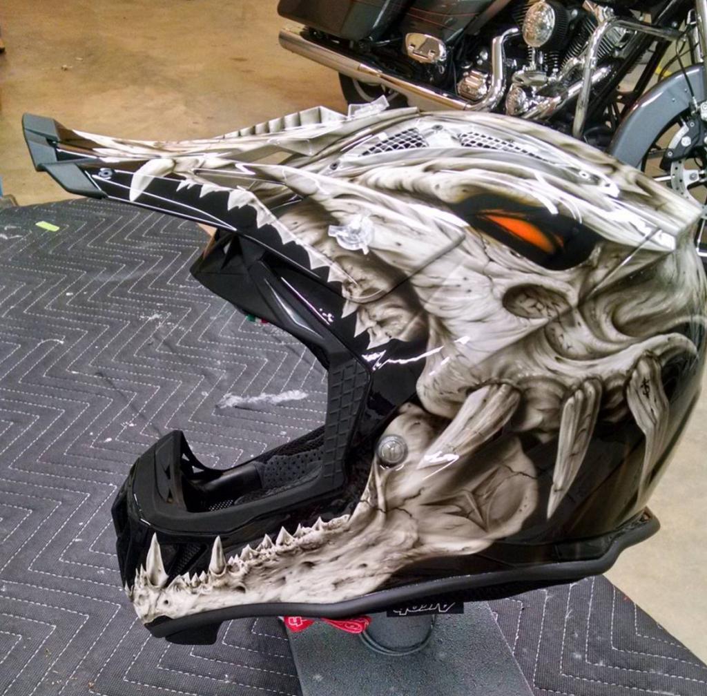 Badass Motorcycle Art With Kre8airbrushing Cool Motorcycle