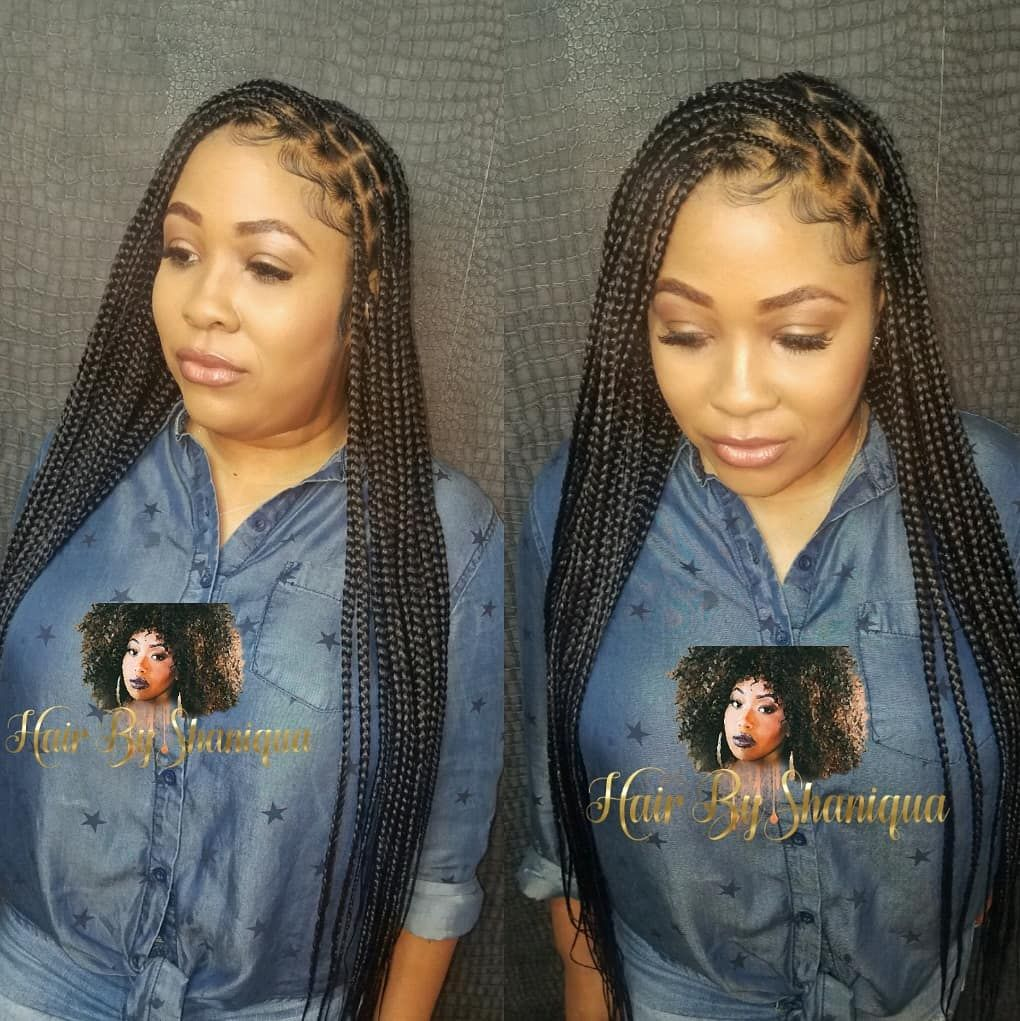 Hair Byshaniqua On Instagram Knotless Braids On Filthyrichtresses Hairbyshaniqua In 2020 Black Girl Natural Hair Natural Braided Hairstyles African Braids Styles