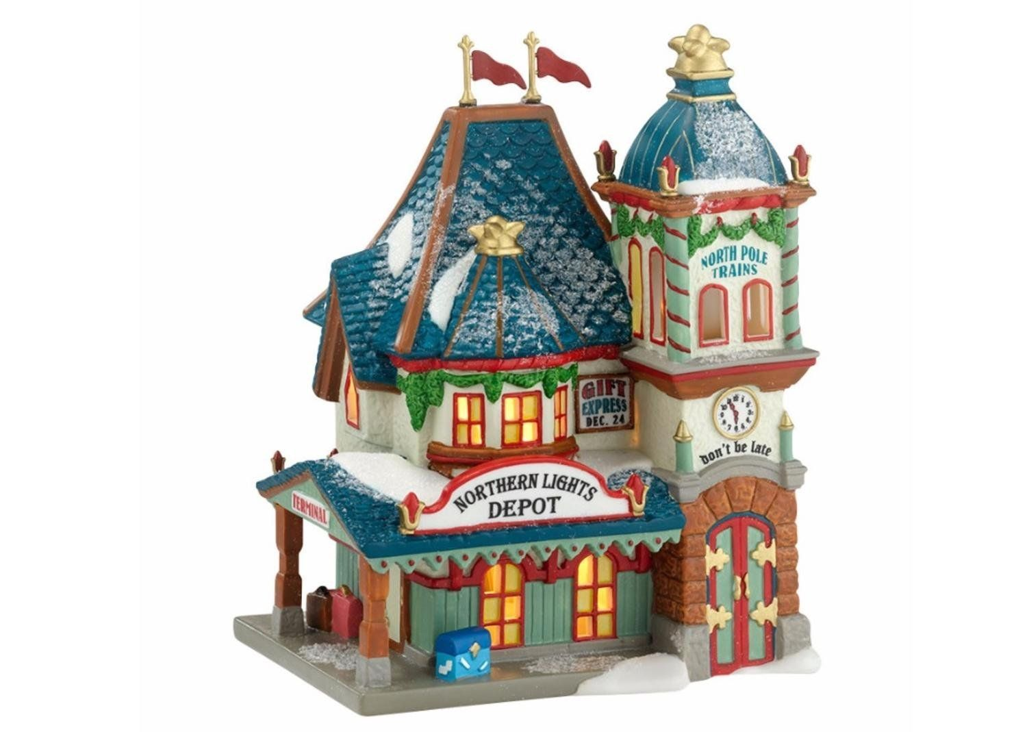 Department 56 north pole series northern lights depot