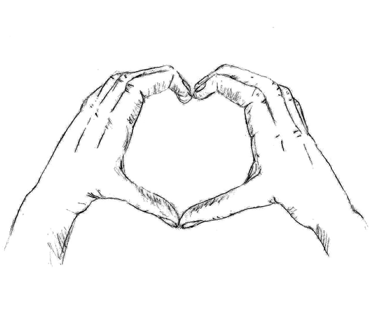 srce heart herz ruke hands hände  herz zeichnen
