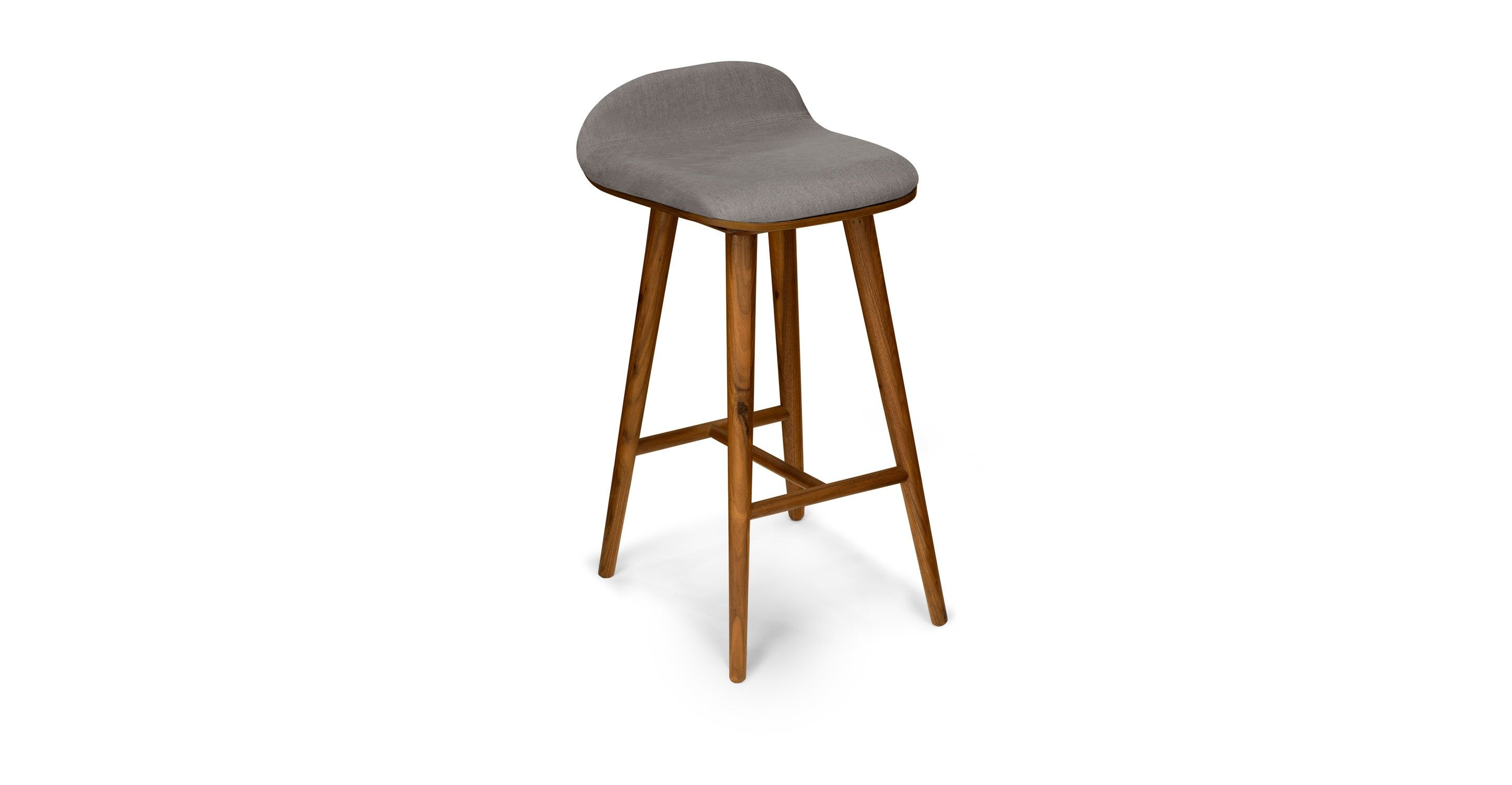 Sede Thunder Gray Walnut Counter Stool Counter Stools Leather