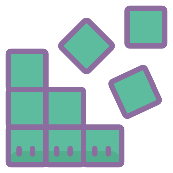 Cubes Icons In Cute Color Style For Graphic Design And User Interfaces App Icon App Store Icon Dot App