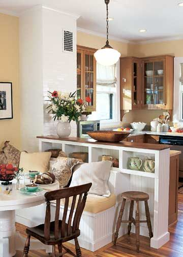 Internal Knock Through Between Kitchen And Dining Room: Breakfast Room Banquette Ideas