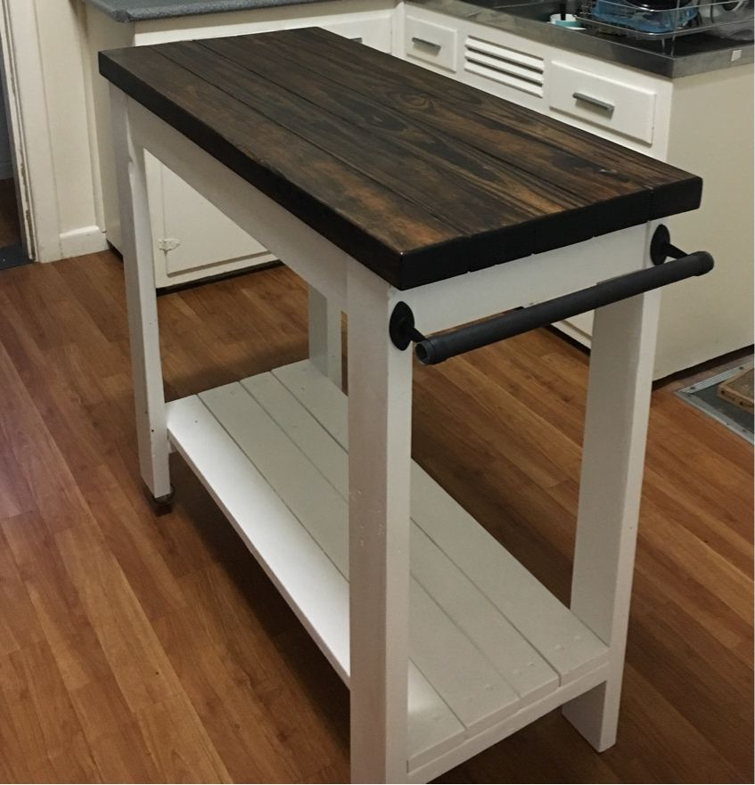 $20 DIY Farmhouse style kitchen island! | I THINK I CAN MAKE ANA ...