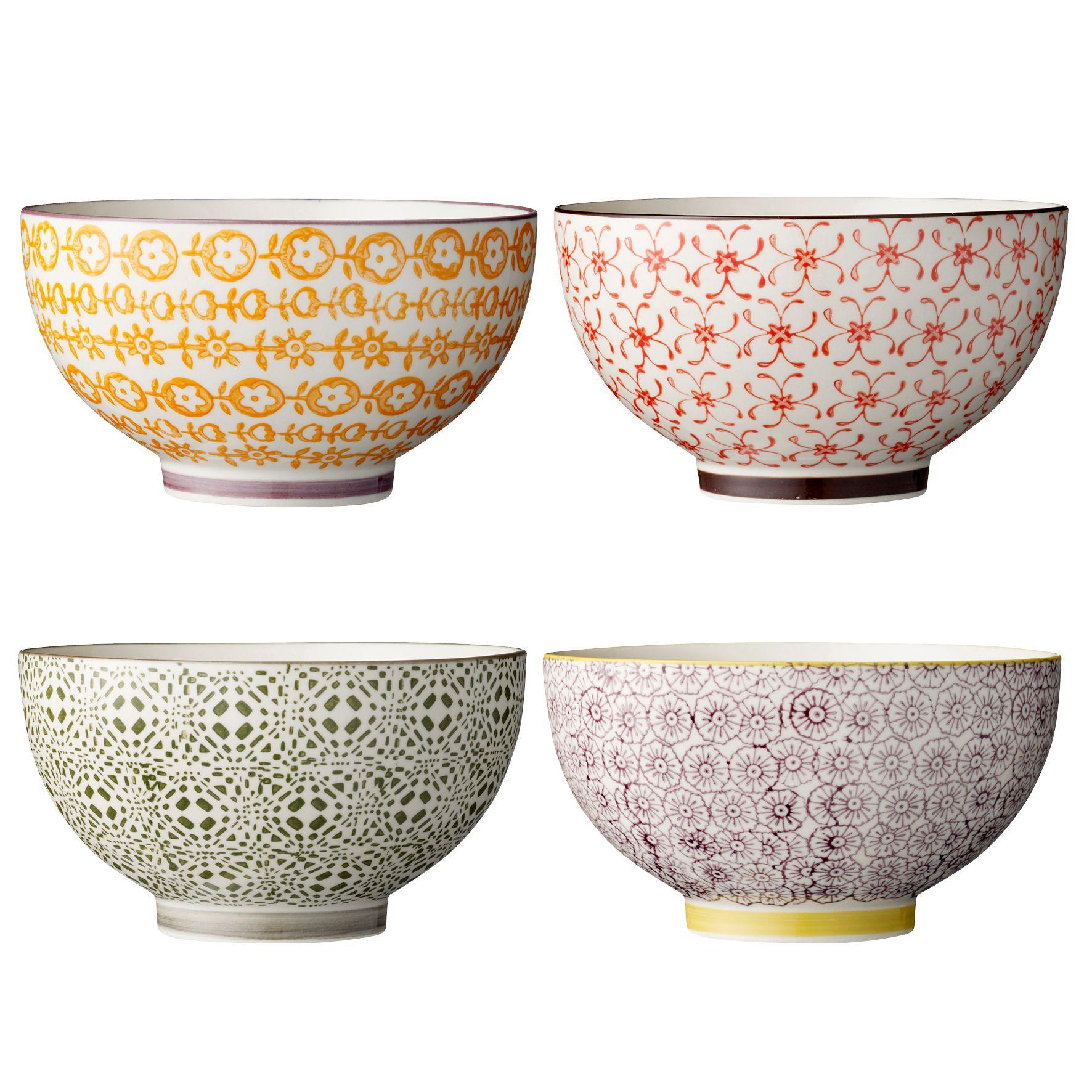 porcelain bowls from bloomingville love the colorful style bits bobs pinterest. Black Bedroom Furniture Sets. Home Design Ideas