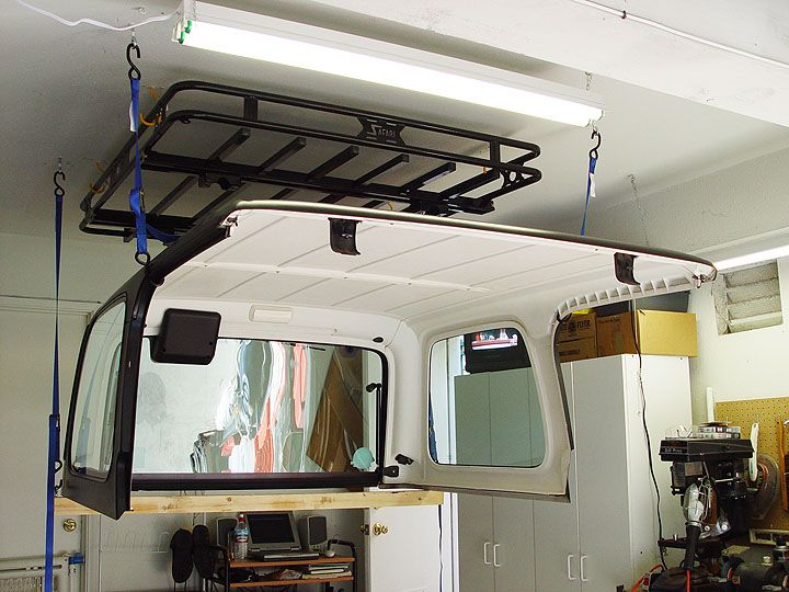 Building Diy Raised Hardtop Hanger For Storage Jeepforum Com Jeep Hardtop Storage Jeep Doors Jeep Tops