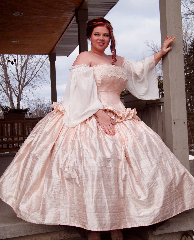 Cinderella Ball Gown Plus Size Wedding Dress Fantasy Style