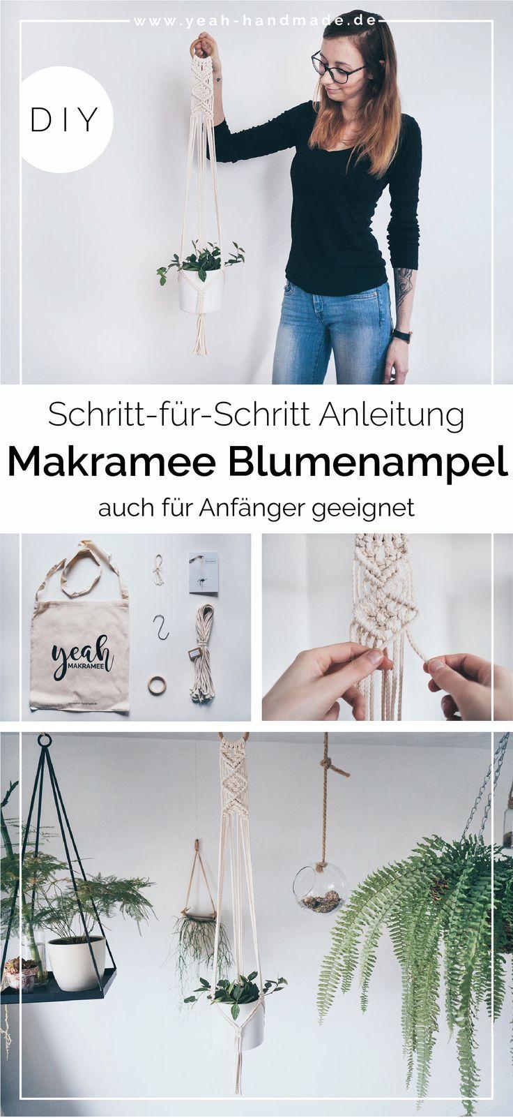 Photo of DIY Makramee Blumenampel selber machen • Yeah Handmade
