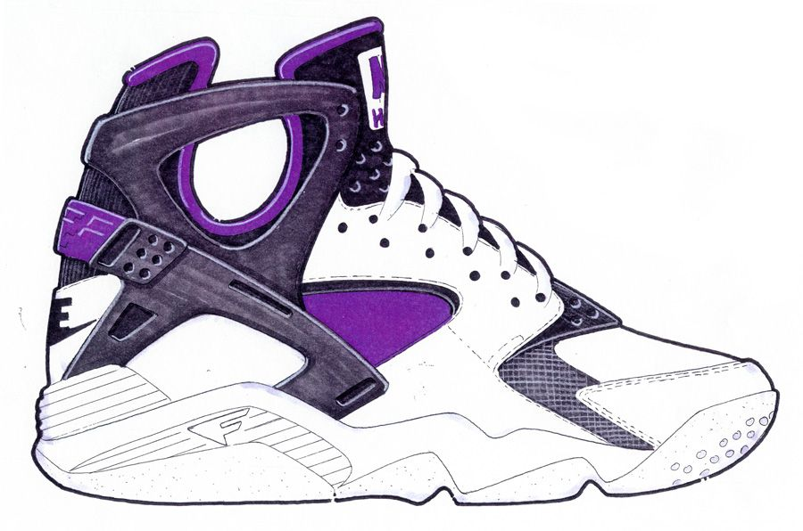 Sketch Work // Nike Air Flight Huarache, by Eric Avar