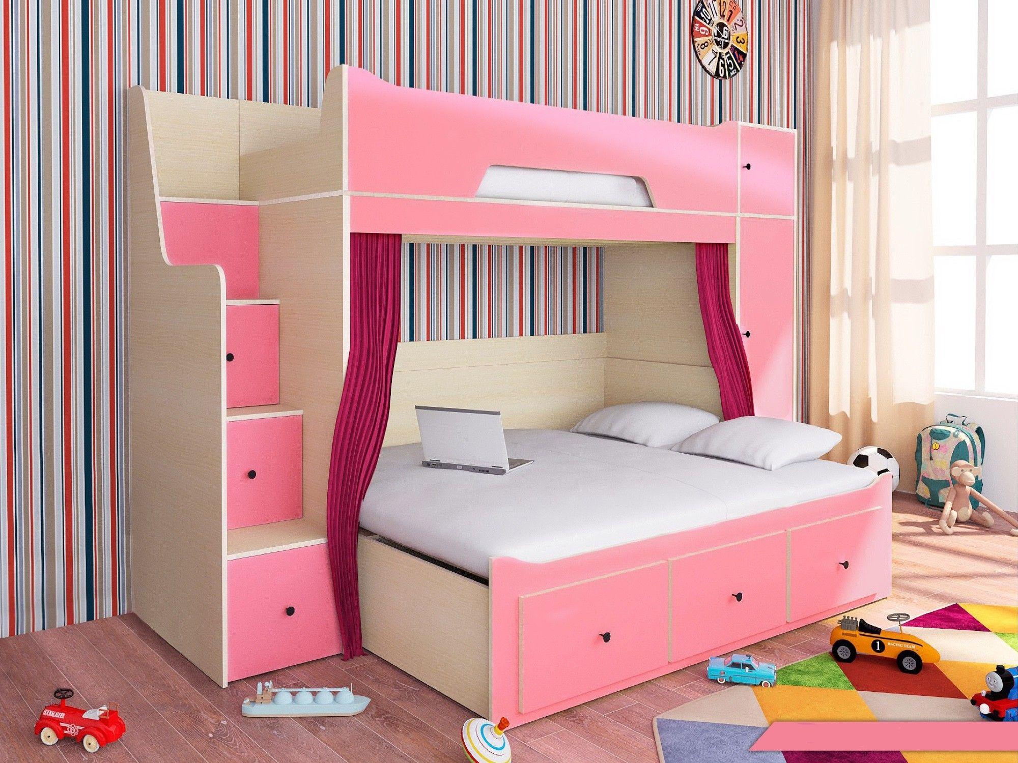 Etagenbett Pink : Etagenbett softy kinder komfort