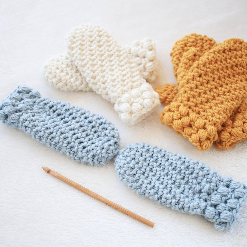 Crochet Pattern - Gathered Buds Mittens P-GBMittens | Crochet ...