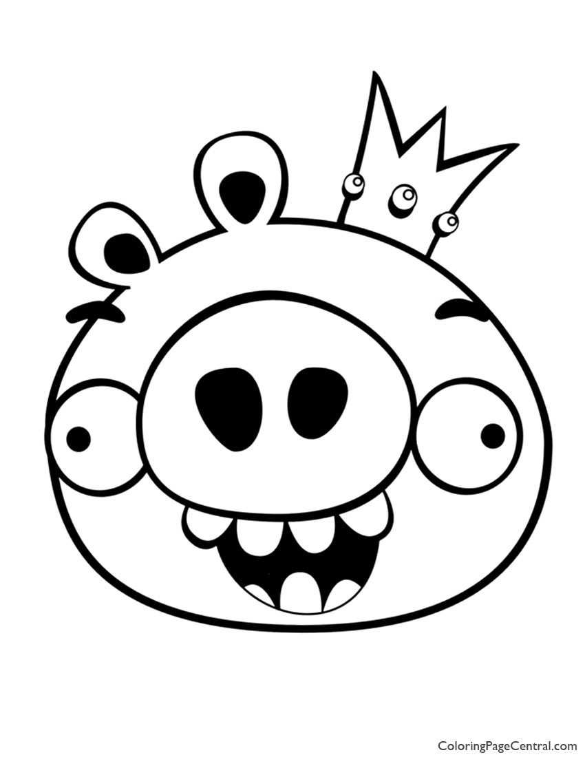 Angry Birds King Pig 01 Coloring Page 5786 Pig Emoji Coloriage Dessin In 2020 Bird Coloring Pages Dinosaur Coloring Pages Angry Birds Pigs