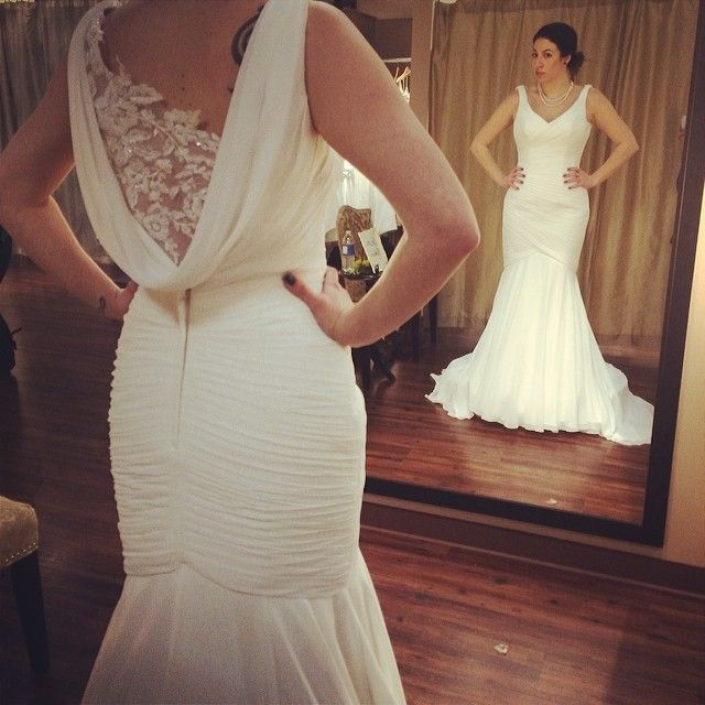 Bridal Consultant Chelsey modeling one of our gowns   Our Wonderful ...