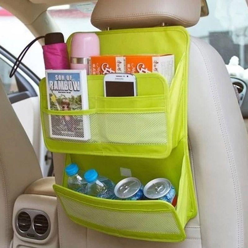 Auto Car Seat Back Tidy Organiser Multi Pocket Travel Hanging Storage Bag Holder