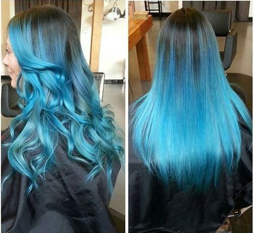 40 Fairy Like Blue Ombre Hairstyles Turquoise Hair Ombre Ombre