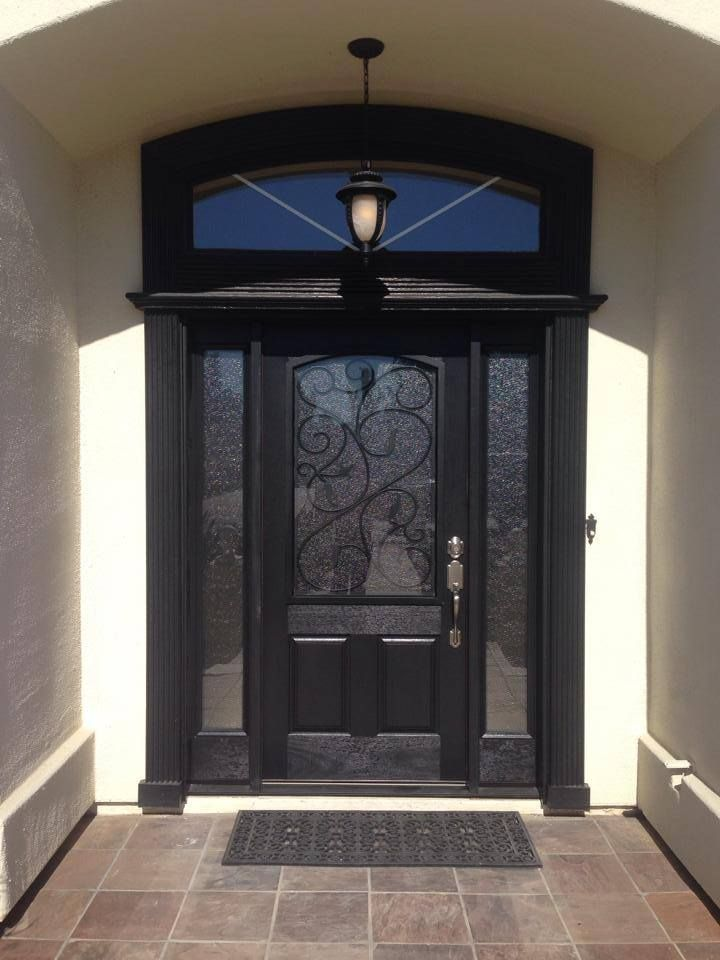 Beautiful Black Entry Door Arizona Illuminationco