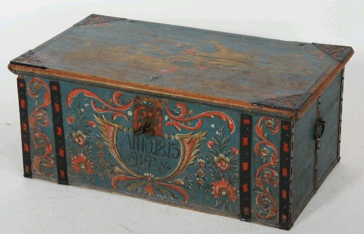 Antique Swedish Trunk. Repinned By Www.mygrowingtraditions.com