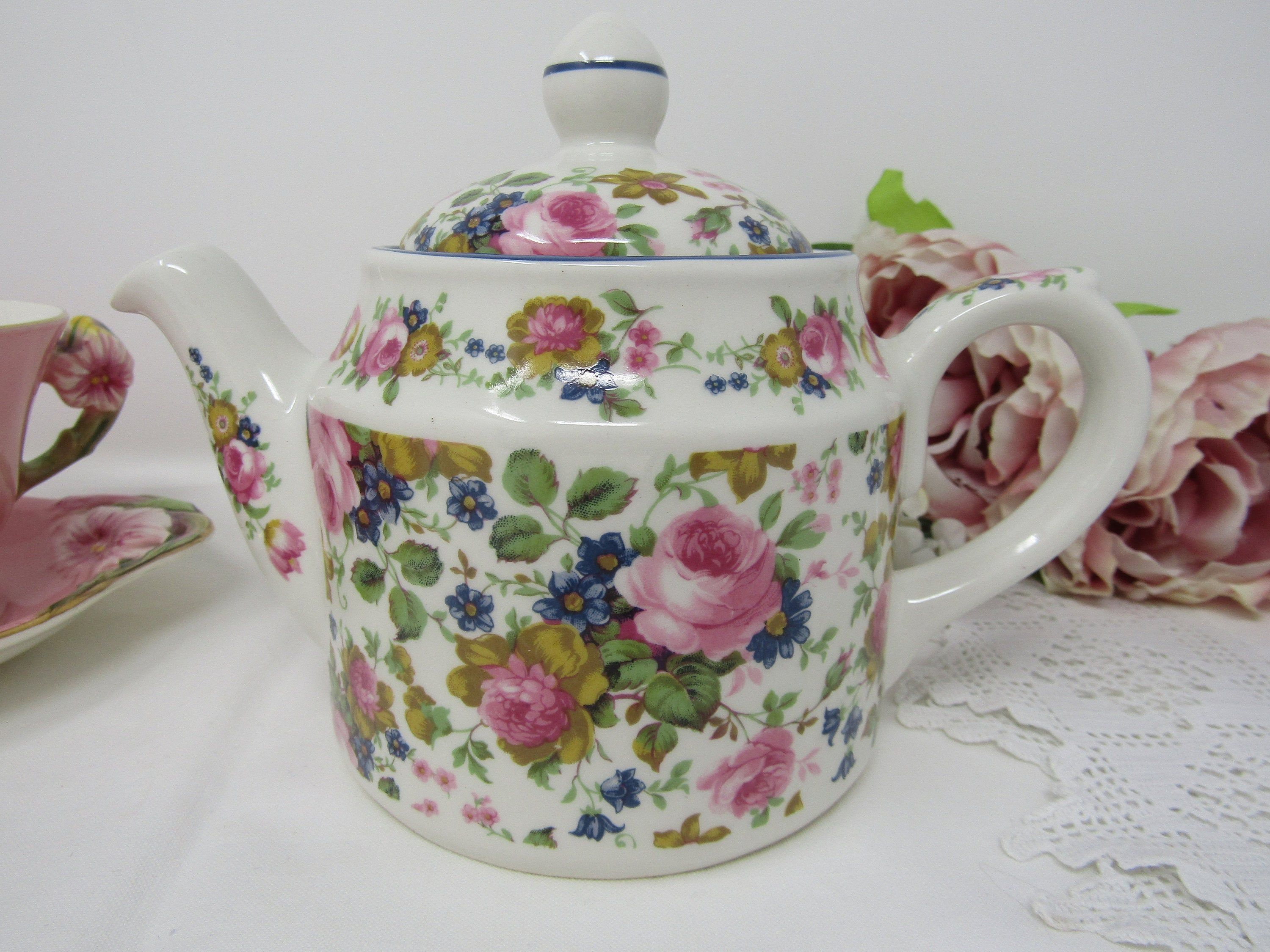 Sadler Olde Chintz Two Cup Teapot Floral China Teapot Collectable Teapot Gift For Her Small Teapot Afternoon Tea Vintage Tea Party Tea Pots China Teapot Vintage Tea