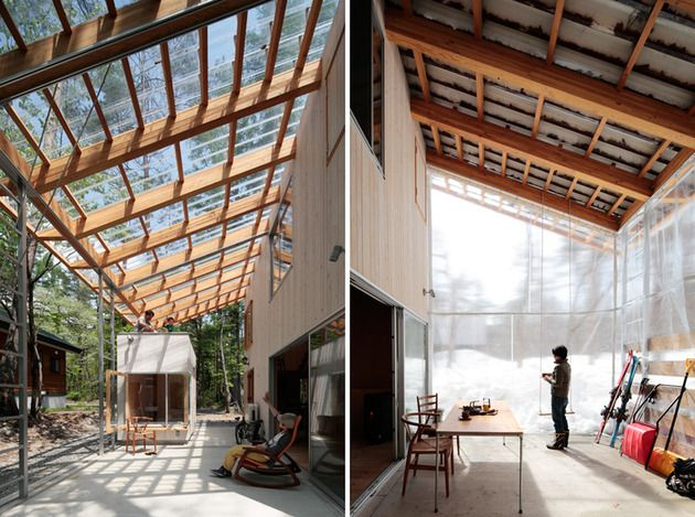 All Season Ski House With Transparent Roof Silence