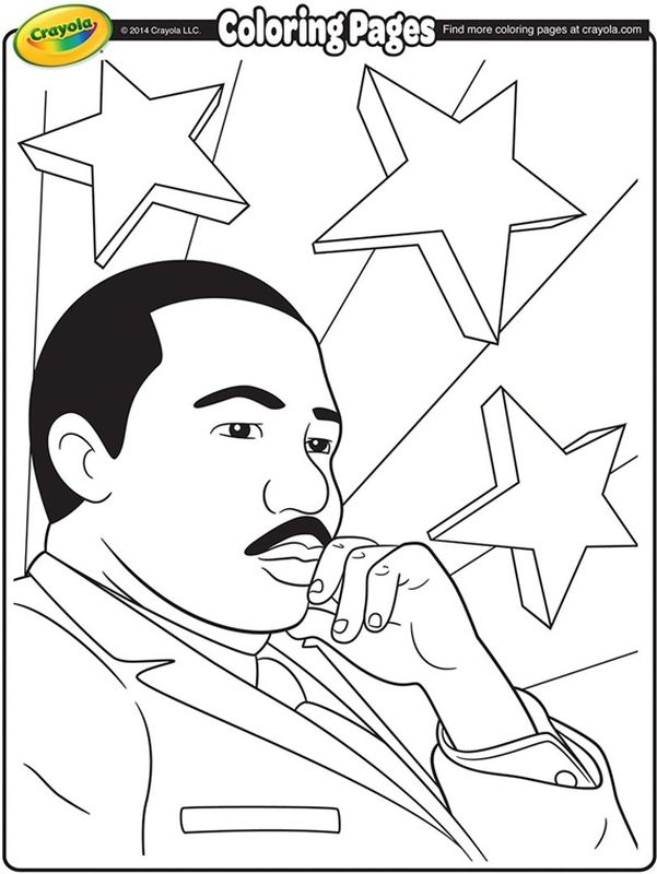 Martin Luther King Jr. is a great American legend coloring
