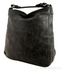 Velká kabelka z broušené kůže TH2015 černá