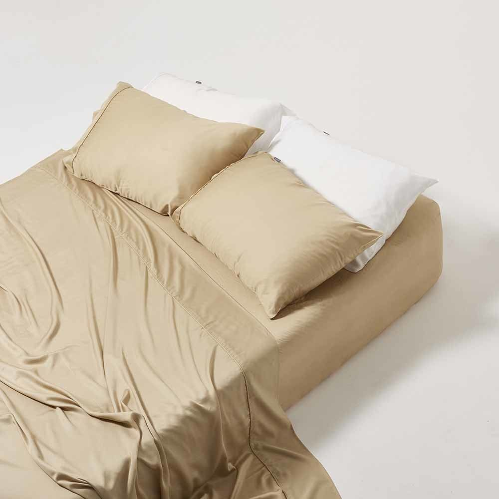 Ettitude Organic Bamboo Sheet Set Earthen Sand King Flora Fauna