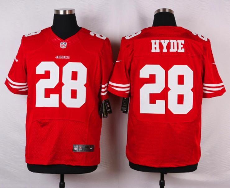 00f4e1915 Men 28 Carlos Hyde Jersey Football San Francisco 49ers Jersey ...