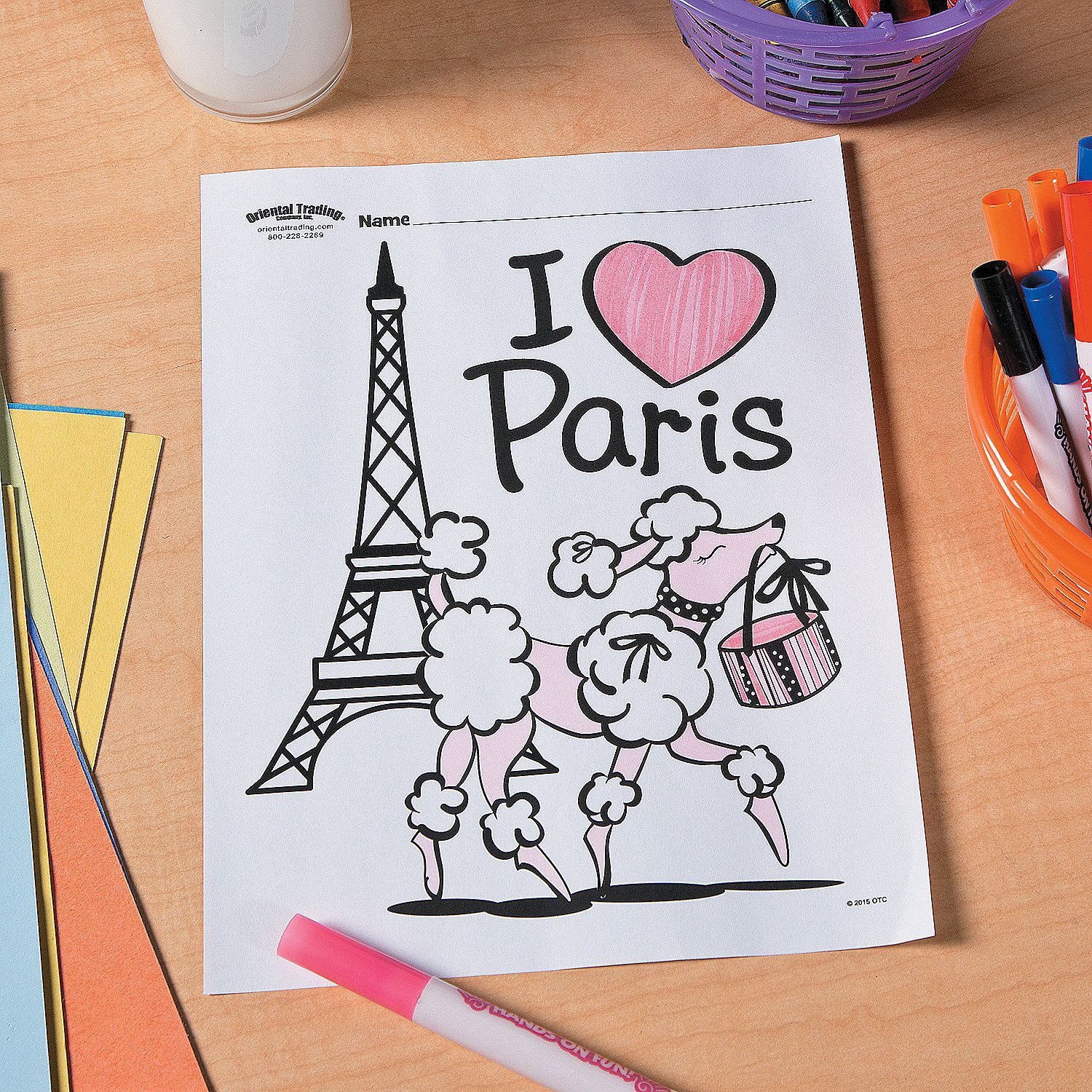 Printable coloring pages paris - Perfectly Paris Free Printable Coloring Page Idea Orientaltrading