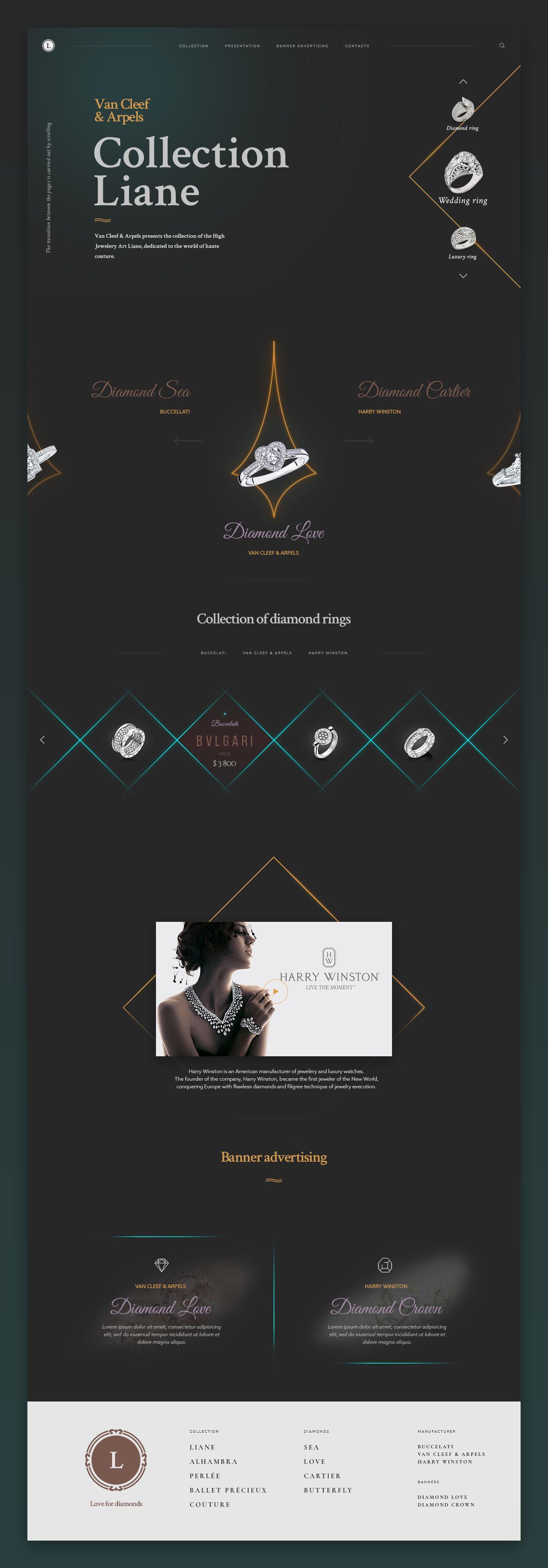 Website Design Love For Diamonds Websites Pinterest Website