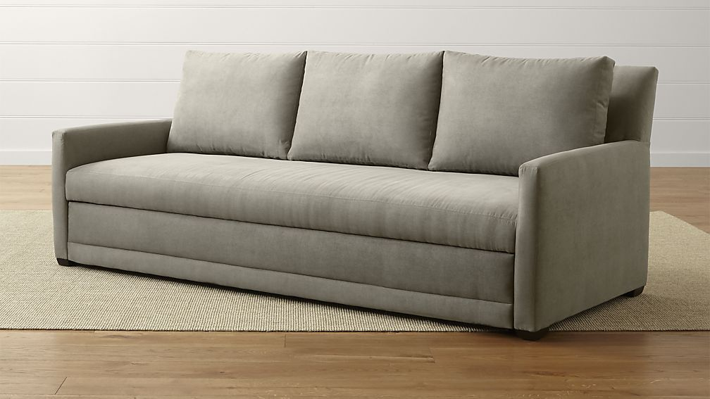 grey tandom zoom furn hero sofa microgrid sleeper hei web couch wid reviews