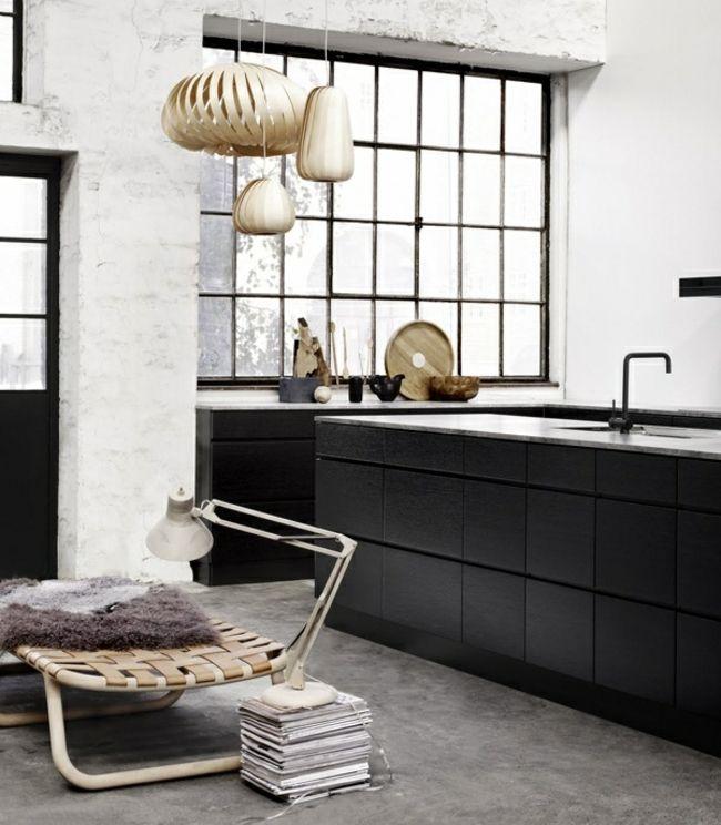 schwarze Küche grifflose Holz Schränke | Kitchen | Pinterest ...