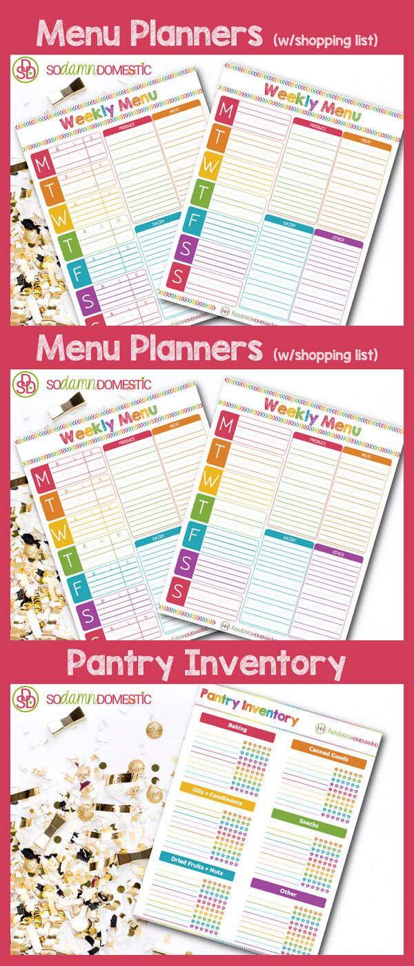 Pantry Food Inventory Printable Refrigerator  Fridge Inventory