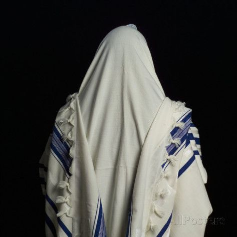 Judaic Symbol Prayer Shawl Tallit Prayer Shawl Tallit And Torah