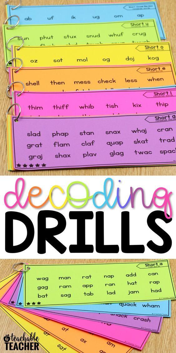 Decoding Drills for Building Phonics Fluency - A Teachable Teacher