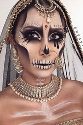 44 Really Cool Skeleton Makeup Ideas To Wear This Halloween