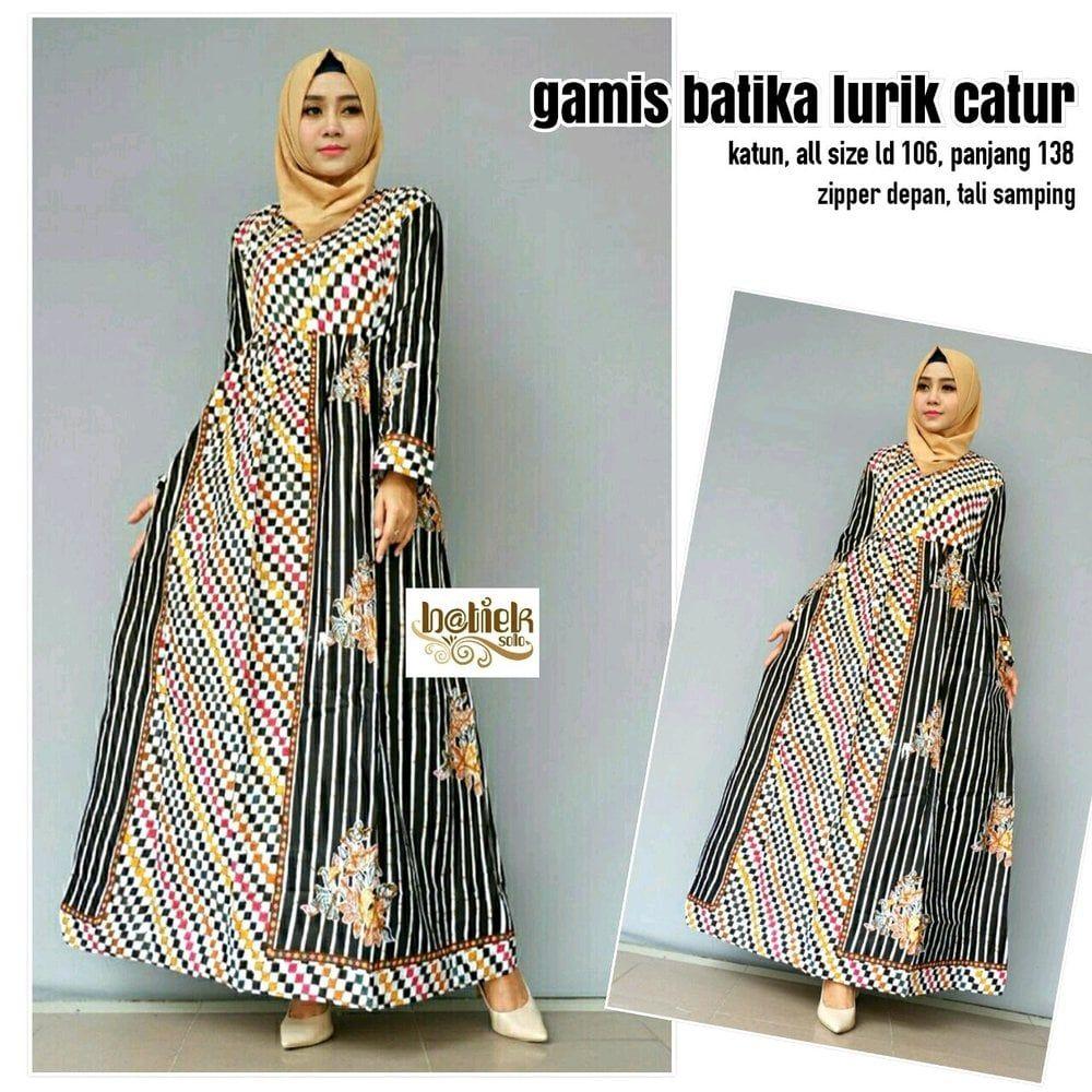 Model Gamis Batik Lurik di 11  Pakaian wanita, Gaya abaya
