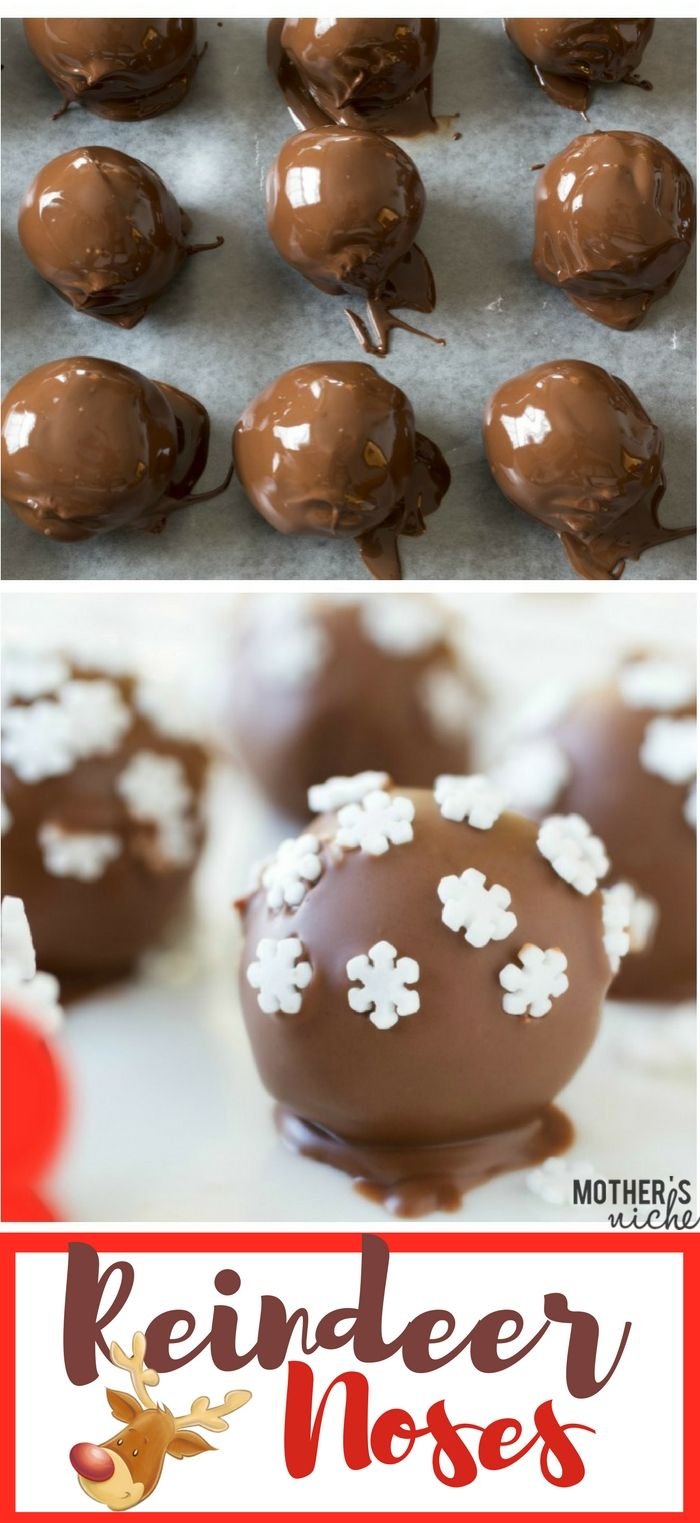 Simple & Easy Reindeer Noses | Easy peanut butter balls, Simple ...