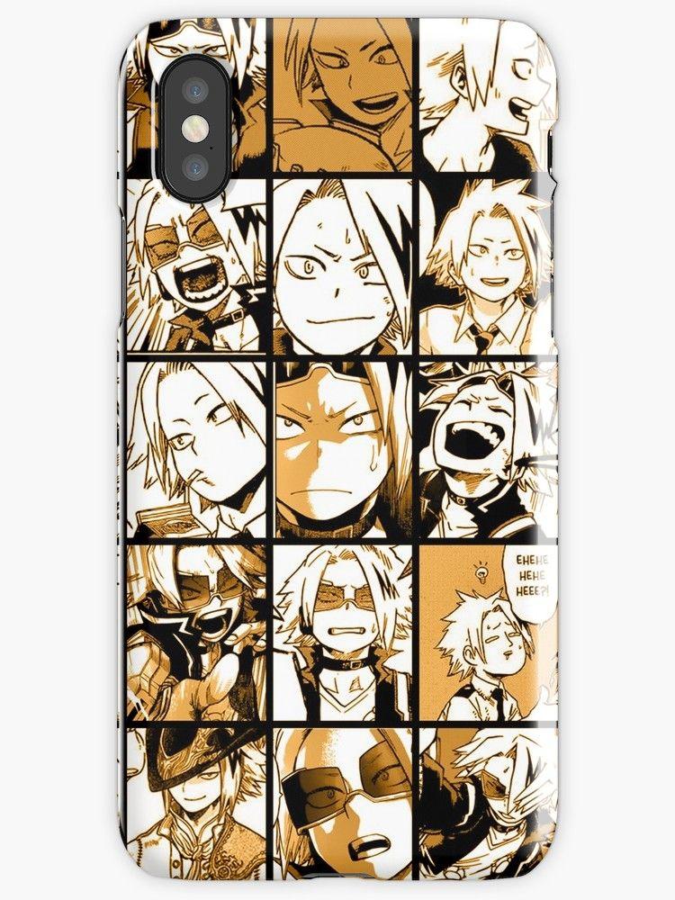BNHA Kaminari Denki collage iPhone Case