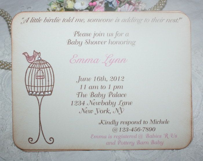 """a little birdie told me someone is adding to their nest!"""" 