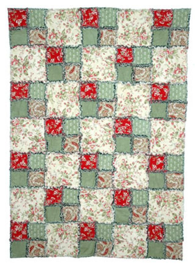 Try my easy rag quilt pattern the next time you're looking for a quick quilting project. The rag quilt is made with simple four patch quilt blocks.
