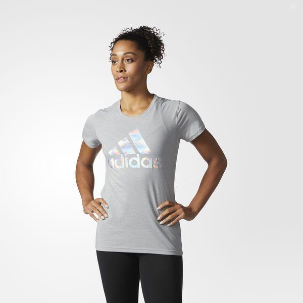 Camiseta Camiseta adidas Badge of Sport of Mesh Foil Badge Gris | f6346b8 - allpoints.host