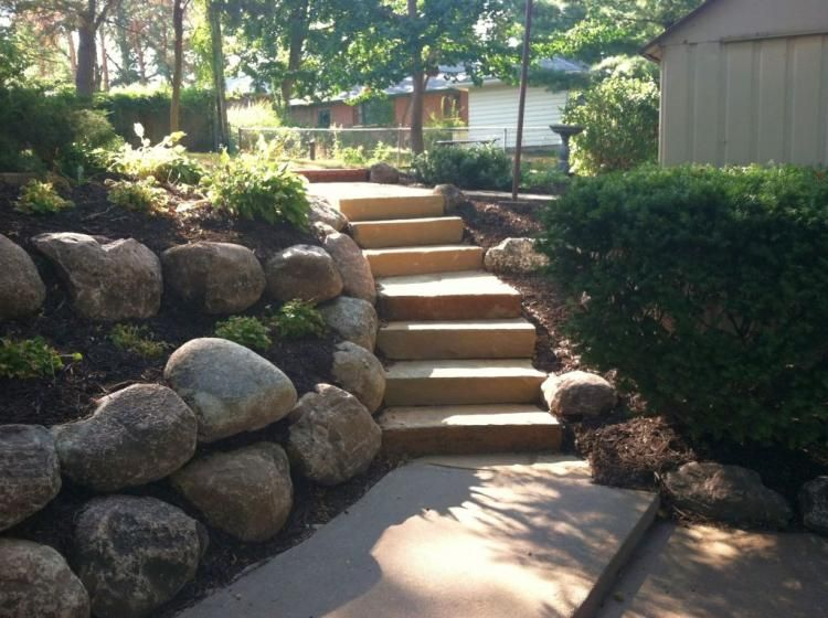 Adorable Landscaping Designs with Big Rocks Ideas