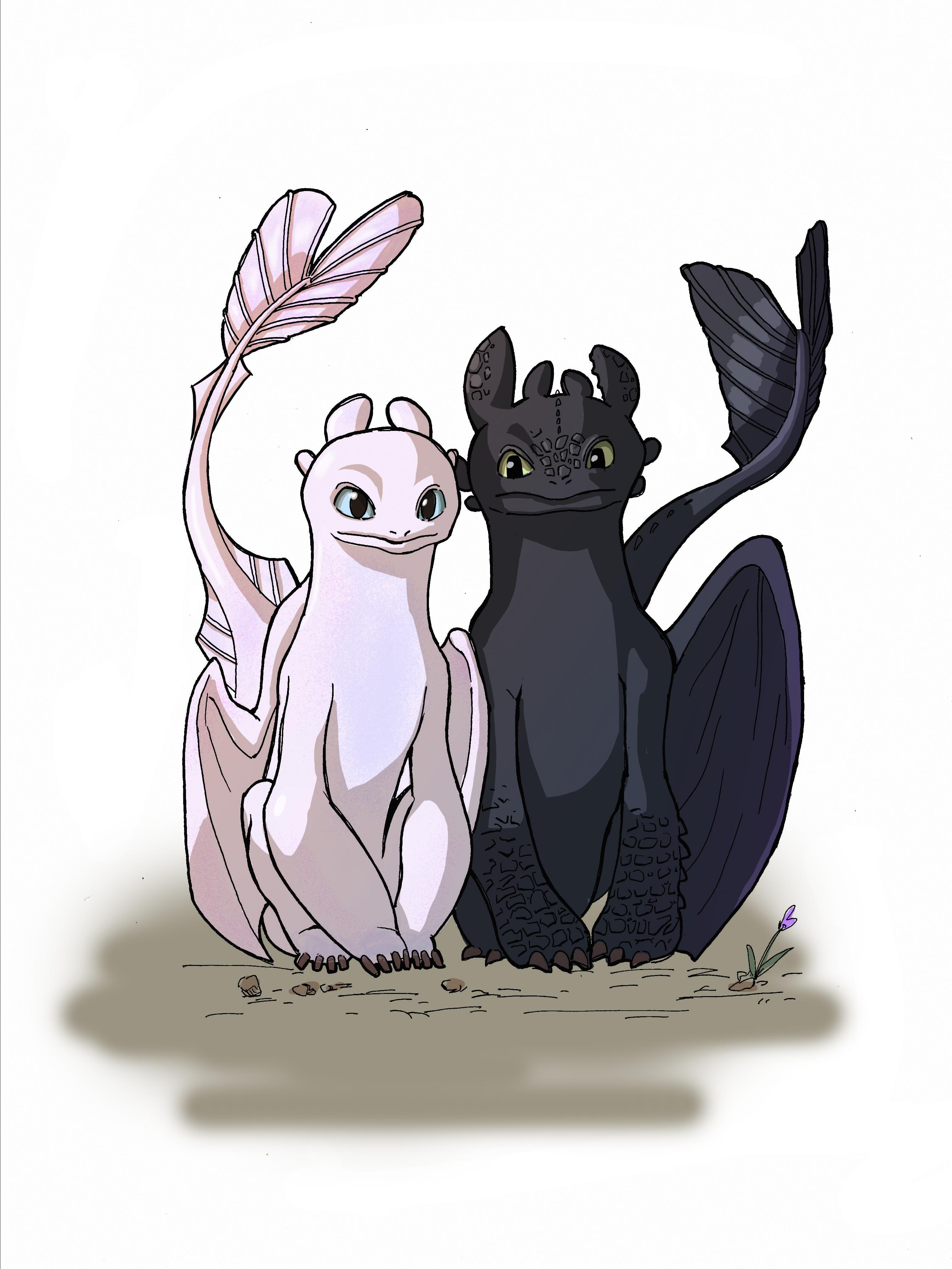 Cute Toothless And Light Fury : toothless, light, Train, Dragon, Toothless, Lightfury, Drawing, #howtotrainyourdragon3, #toothless, #드래곤길들…, Dragon,