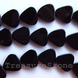 Bead, Black onyx flat triangle. TreasureStone Beads Edmonton