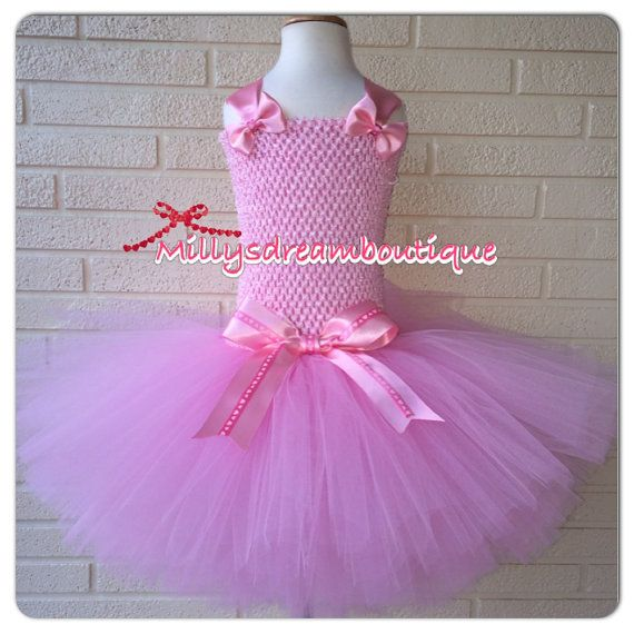 Pink Ballerina Tutu Dress By MillysDreamBoutique On Etsy