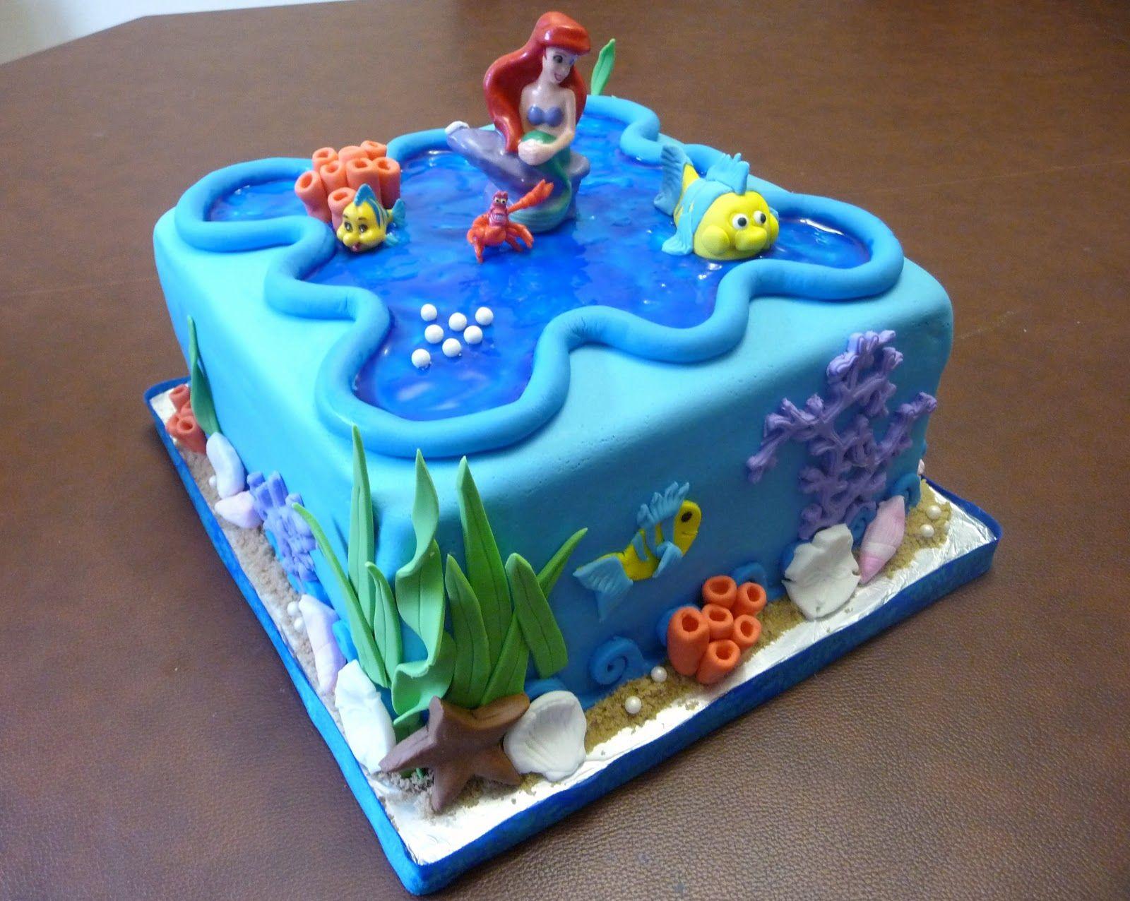 ariel birthday cake the little mermaid birthday party ideas