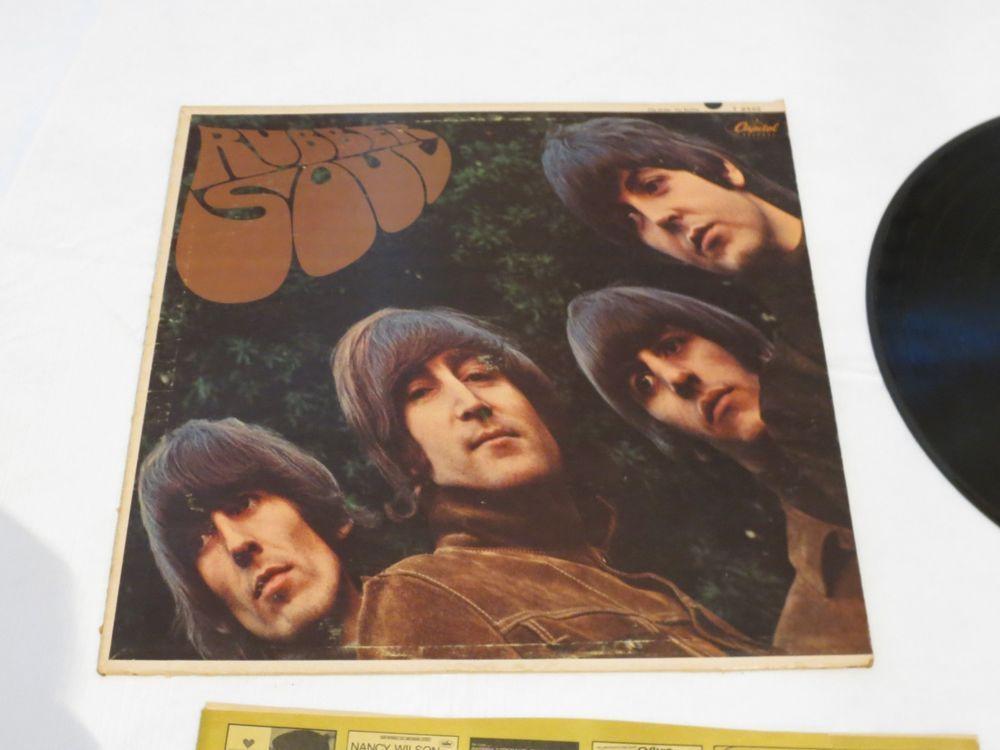 Rubber Soul Beatles T 2442 rainbow Capital mono LP Album